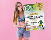 """A5 Poster for """"Charity Football Tournament"""""""