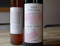 Podere Il Poggiolino wine labels