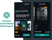 Assassin's Creed Valhalla Mobile App UI