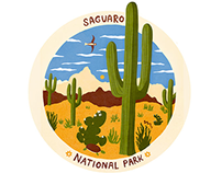 SAGUARO National Park Poster/badge