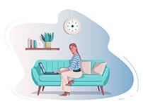 Work at home Illustration