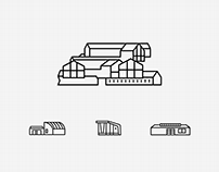 Architecture Icons for Vitra Campus