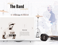 The Band - Free PSD Template for music related websites