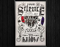 "Lettering | ""Your silence"""
