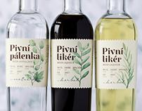Beer distillates label design