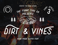 Dirt & Vines - A Gritty San-Serif Font