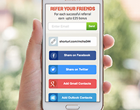 Friend Referral Scheme Responsive Phone UI Design