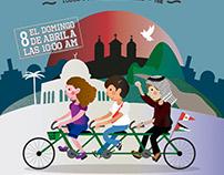 Afiche de Tercera Bicicleteada 2018