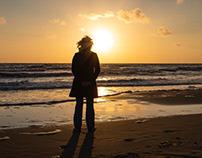 Sunset serie North Sea