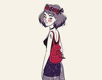 Girl character design - Sailor Saturn