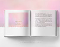 Square Opened Book PSD Mockup