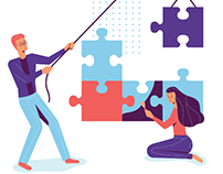Company Core Values Page Illustration and Icons