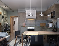 Kitchen: 3d render