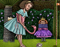 Alice plays Croquet with a Hedgehog