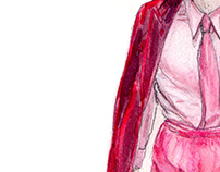 Freehand drawings_ Fashionshow