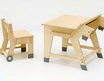 School desk for children.