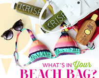 KRISP Fresh Living - What's In Your Beach Bag?