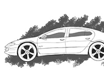 Commissioned Piece - Dodge Intrepid Sketch