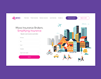Movo Insurance - Web Design
