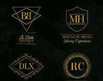 Golden Luxury Logos | Designed for Freepik