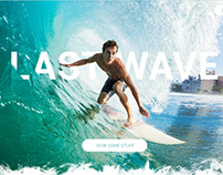 Concept for surfboard website