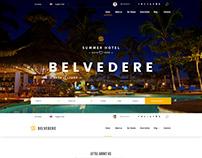Summer Hotel Belvedere - bootstrap template