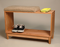 Upholstered Entryway Bench