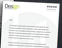 Letterhead Design to Match Business Cards.
