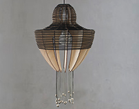 TASSEL _ wood lamp, pendant lighting, Plywood hanging l
