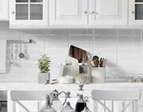 Kitchen - living room renders