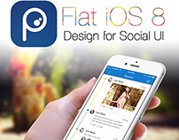 Social Mobile App Concept for iPhone 6
