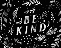 Be Kind (Lettering in Motion - 001)