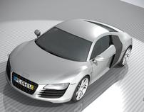 Audi R8-3D Modeling