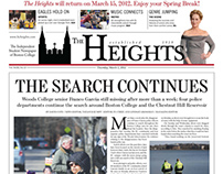 """The Heights"" Newspaper Front Pages as Layout Editor"