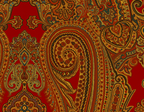 Paisley Artwork for Ralph Lauren Home Collection