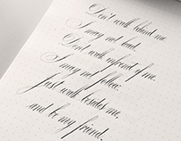 Calligraphy Lettering Practice #2