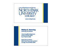 North Park University Business Cards