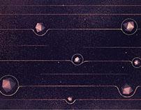 Gravitational Waves Infographic Design Board