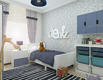 Flat Interior Design / Kids Bedroom Design