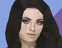 WWE Paige- Polygon Art