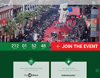 Hollywood Christmas Parade Web Design
