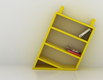 Blind/ bookcase