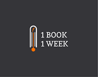 1Book 1Week logo design
