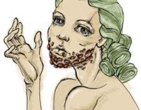 set of bearded ladies