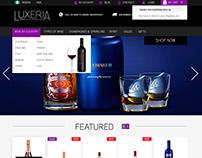 LUXERIA Website Concept