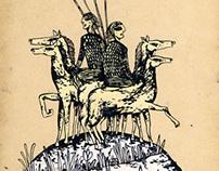 Horsemen on hilltop