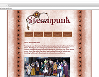Steampunk Research Website Design | Spring 2010