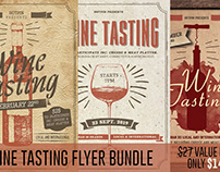 Wine Tasting Flyer Bundle