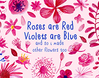 Roses are red, Violets are blue - Watercolor Elements