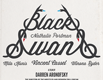 Typography Poster Black Swan